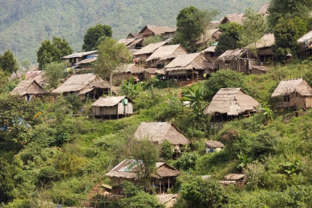 Burmese refugee camp in Umphang province, Thailand photo