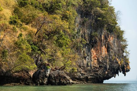 Cliff  tropical sea landscape in Phang nga bay, Thailand