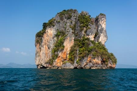 pang: Steep limestone island in the Pang nga bay, Thailand Stock Photo