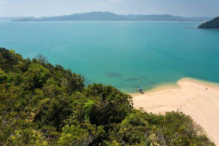 pang: Thailand wild idyllic beach in Koh Nok island in the Pang Nga bay Stock Photo