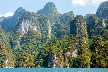 Rocky tropical landscape in the Pang Nga bay, Thailand photo