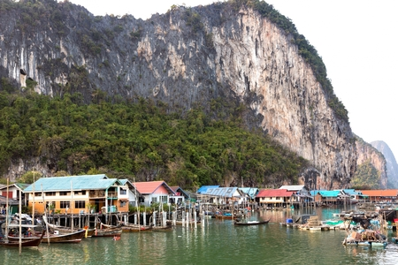 The Koh Panyi muslim fishing village in the Phang nga bay, Thailand