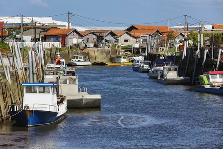 gironde: French fishing port of Gujan Mestras in Arcachon bassin , Gironde, France Stock Photo