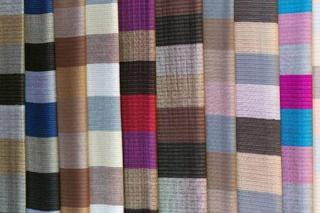 thailand silk: Traditional Vietnamese ethnic scarfs in Mai Chau village
