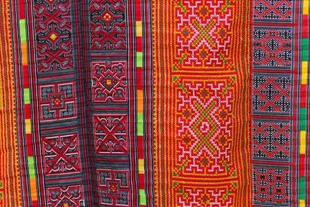 ethnical: Asian carpet pattern, Thai ethnical style in Vietnam