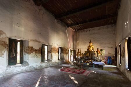 nam: Interior of an old buddhist temple, Wat Bang Nam Phueng Nok in Bangkok, Thailand