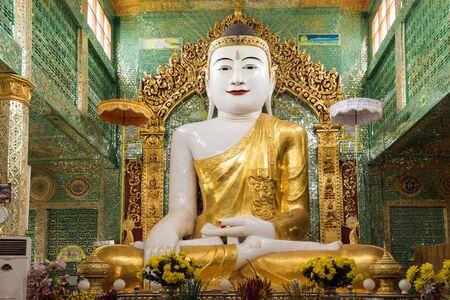 shin: Burmese Buddha statue in the Soon U Ponya Shin Paya pagoda Sagaing Myanmar Editorial