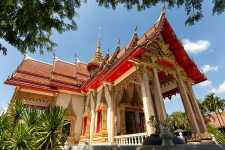 chalong: The Wat Chalong Buddhist temple in Chalong, Phuket, Thailand