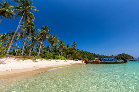 Tropical beach in the Koh Ngai island in Thailand