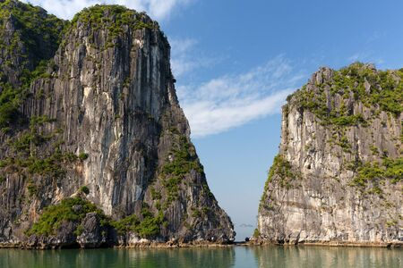 halong: Typical view on the Halong Bay from a boat, Vietnam
