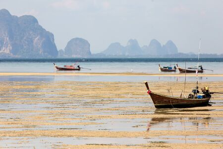 mook: Ko Mook island tropical landscape at low  tide, Thailand Stock Photo