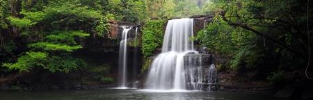 kood: Panorama of the Khlong Chao waterfall in Ko Kood island, Thailand