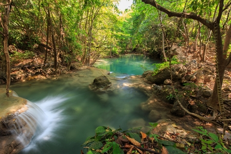 huay: Huay Mae Khamin waterfalls in Kanchanaburi province, Thailand