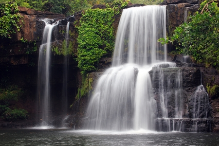 ko: Khlong Chao waterfall in Ko Kood island, Thailand