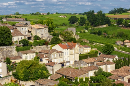 Saint Emilion French village heritage, famous for the red wine.