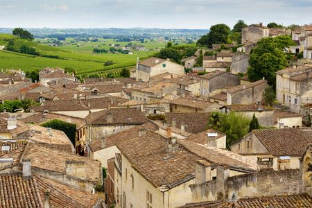 Saint Emilion French village   , famous for the red wine