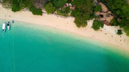 phra nang: Aerial view of Railay beach in Krabi province, Thailand Stock Photo