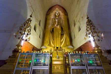 Giant Buddha statue in the Dhammayangyi temple, Bagan, Myanmar