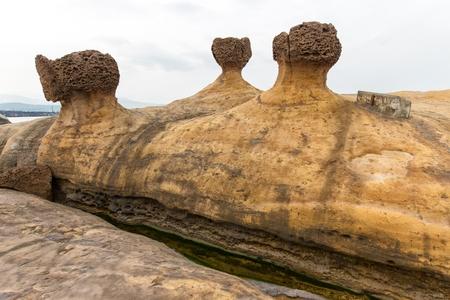 liu: Amazing geologic natural sandstone formation at the Yehliu geopark, Taiwan Stock Photo