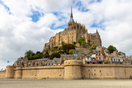 The Mont Saint Michel village and abbey, in Normandy, France
