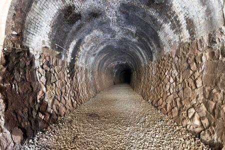 Old stone railway tunnel in the Osaka area, Japan