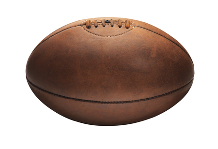 Old vintage Tan Old Rugby Ball 免版税图像