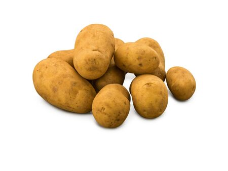 Organic Potatoes Charlotte isolated on white
