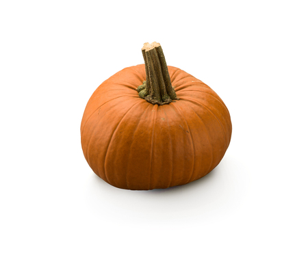 Organic Orange Pumpkin isolated on white