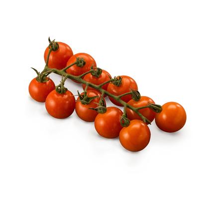 Organic Tomatoes Cherry vine isolated on white background Banco de Imagens