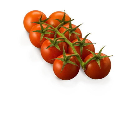 Organic Tomato Cherry Vine isolated on white background