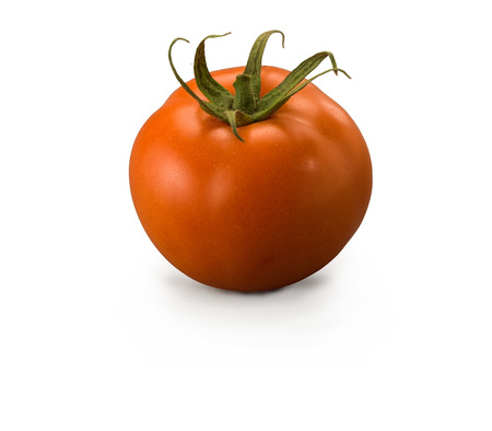 Large Tomato isolated on white background Banco de Imagens