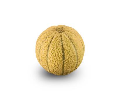 Organic Cantaloupe Melon isolated on white