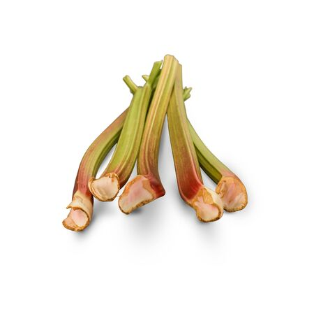 Organic Rhubarb isolated on white background