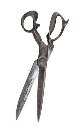 Old Drapers Shears isolated on white