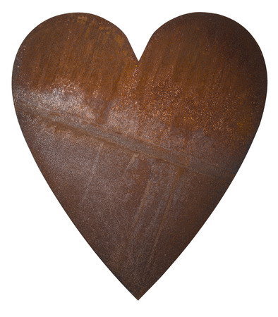 Rusty Heart isolated Stockfoto