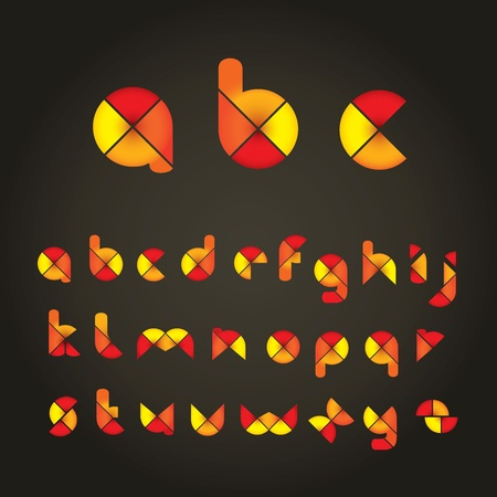 Decorative Colored Alphabet Vector