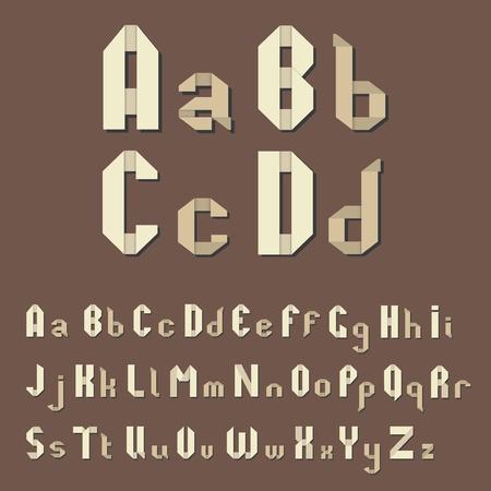 Vector Origami alphabet Vector