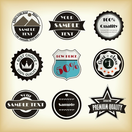 Vector design labels for web Vector