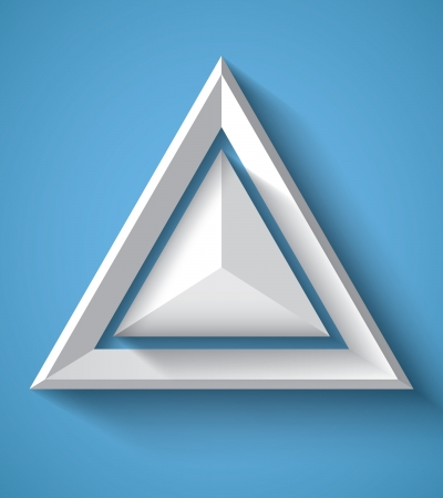 triangle shape: Realistic geometrical background with triangle