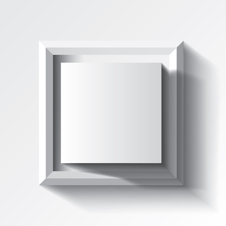 Abstract white geometrical background with cube