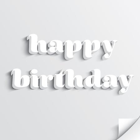 Happy birthday text lettering Stock Vector - 18981993