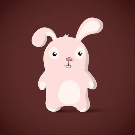 Cute Bunny Cartoon Character Vector