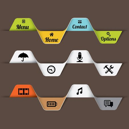 Ribbon design for web