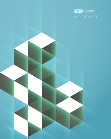 Abstract vector background with cubes Illustration