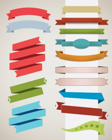 Set of various ribbon Stock Vector - 18981995