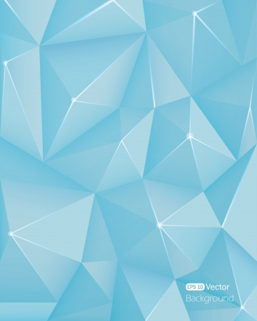 Abstract light blue triangle background Stock Vector - 18982054