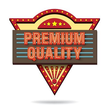 premium quality retro boarddesign Stock Vector - 18982007