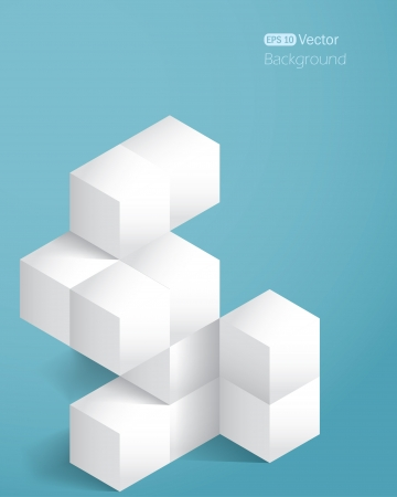 Realistic background with cubes  Vector illustration