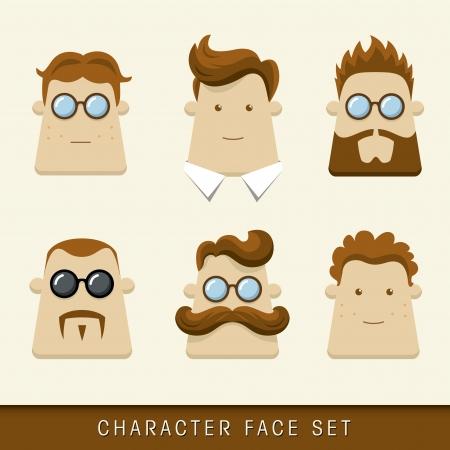 thoughtfulness: Men character icons  Vector illustration Illustration