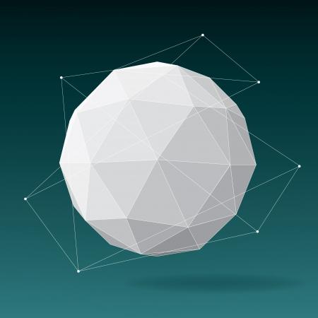White globe geometrical background